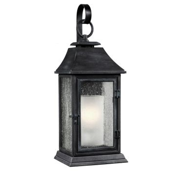 "Feiss Shepherd 25.63"" Outdoor Wall Sconce in Dark Weathered Zinc"