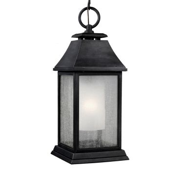 Feiss Shepherd Outdoor Pendant Lantern in Dark Weathered Zinc