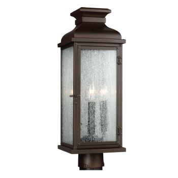Feiss Pediment 2-Light Outdoor Post in Dark Aged Copper