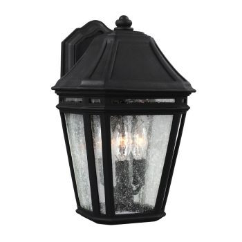 """Feiss Londontowne 13.75"""" 3-Light Outdoor Wall Sconce in Black"""