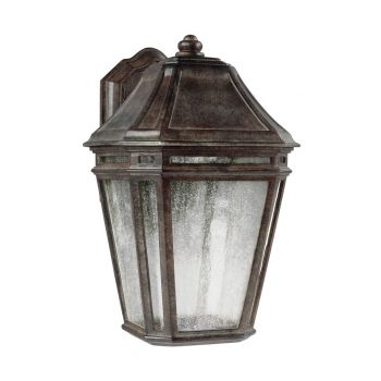"""Feiss Londontowne 13.75"""" LED Outdoor Wall Sconce in Weathered Chestnut"""