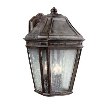 """Feiss Londontowne 16"""" 3-Light Outdoor Wall Sconce in Weathered Chestnut"""