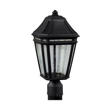 """Feiss Londontowne 17"""" LED Outdoor Post Lantern in Black"""