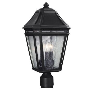 "Feiss Londontowne 19.5"" 3-Light Outdoor Post Lantern in Black"