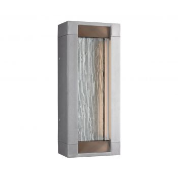 Feiss Mattix 2-Light Outdoor LED Wall Lantern in Painted Silver