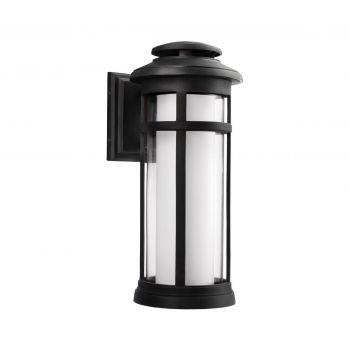 Feiss Oakfield 1-Light Outdoor Wall Lantern in Dark Weathered Zinc