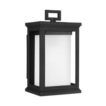 """Feiss Roscoe 11.5"""" Outdoor Wall Lantern in Textured Black"""