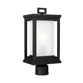 """Feiss Roscoe 7.5"""" Outdoor Wall Lantern Post in Textured Black"""