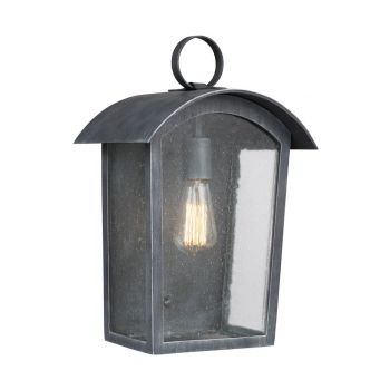 """Feiss Hodges 16.25"""" Outdoor Wall Lantern in Ash Black"""