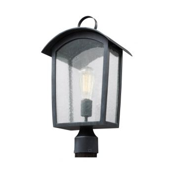 """Feiss Hodges 19.75"""" Outdoor Post Lantern in Ash Black"""