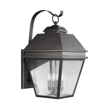 "Feiss Herald 27"" 4-Light Outdoor Wall Lantern in Antique Bronze"