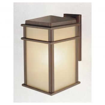"""Feiss Mission Lodge 9"""" LED Outdoor Wall Lantern in Corinthian Bronze"""