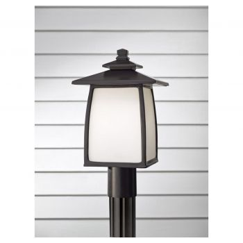 """Feiss Wright House 16.19"""" LED Outdoor Lantern Post in Oil Rubbed Bronze"""