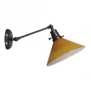 "House of Troy Otis 5"" Amber Industrial Wall Lamp in Oil Rubbed Bronze"