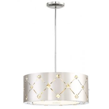 George Kovacs Crowned Steel LED Pendant Light in Chrome