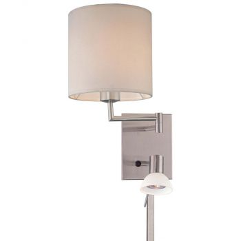 George Kovacs Contemporary Wall Lamp in Nickel
