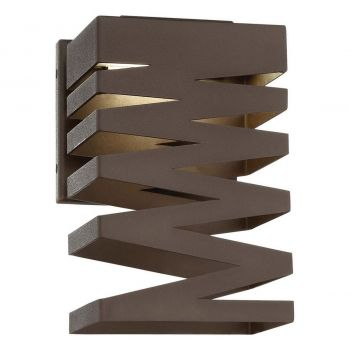 """George Kovacs Rizer 10"""" Outdoor Wall Light in Sand Bronze"""