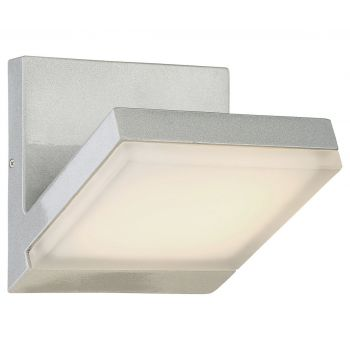 """George Kovacs Angle 6"""" Outdoor Wall Light in Silver Dust"""