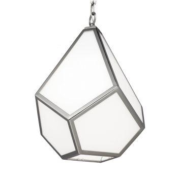 Feiss Diamond 1-Light Pendant in Polished Nickel