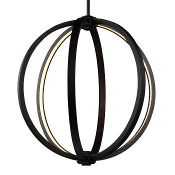 """Feiss Khloe 20"""" LED Globe Pendant in Oil Rubbed Bronze"""