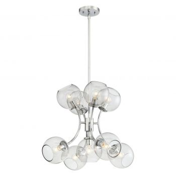 George Kovacs Exposed 9-Light Chandelier in Chrome