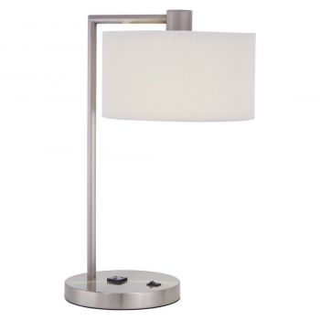"George Kovacs Park 20"" Table Lamp in Brushed Nickel"