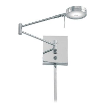 "George Kovacs George'S Reading Room 6"" Wall Lamp in Chrome"