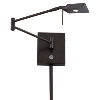 """George Kovacs George'S Reading Room 6"""" Wall Lamp in Copper Bronze Patina"""