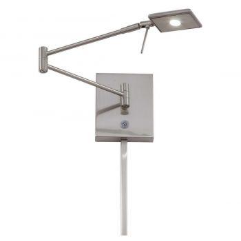 "George Kovacs George'S Reading Room 6"" Wall Lamp in Brushed Nickel"