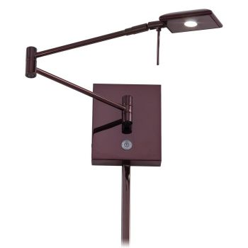 "George Kovacs George'S Reading Room 6"" Wall Lamp in Chocolate Chrome"