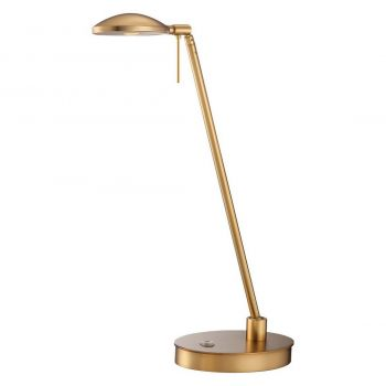 """George Kovacs George'S Reading Room 20"""" Table Lamp in Honey Gold"""
