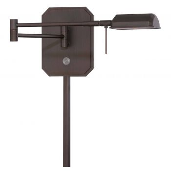 """George Kovacs George'S Reading Room 7"""" Wall Lamp in Copper Bronze Patina"""