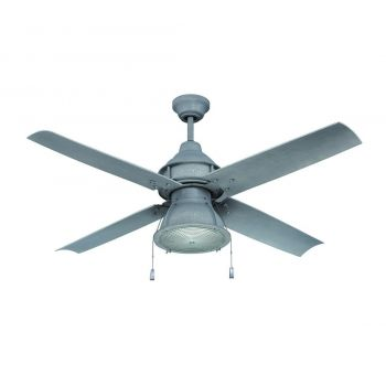 """Craftmade Port Arbor 52"""" Ceiling Fan with Blades in Aged Galvanized"""