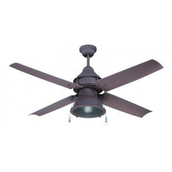 "Craftmade Port Arbor 52"" Outdoor Ceiling Fan in Rustic Iron"