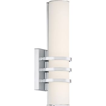 "Quoizel Trinity 12"" LED Wall Sconce in Polished Chrome"