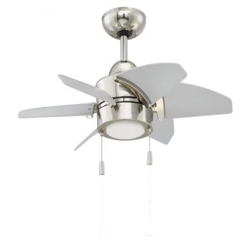 "Craftmade Propel 24"" Ceiling Fan w/ Blades in Polished Nickel"