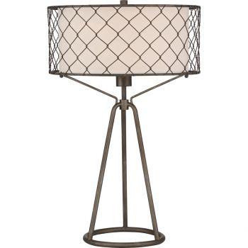 "Quoizel Portable Lamp 25.5"" Table Lamp in Black Metal"
