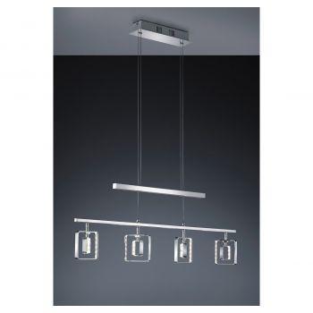 Arnsberg Tivoli 4-Light LED Linear Chandelier in Chrome