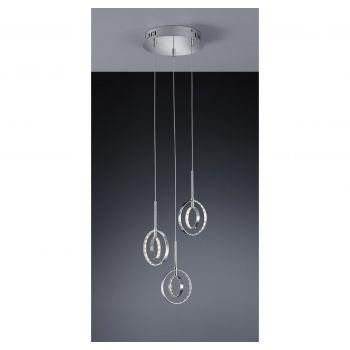 Arnsberg Prater 3-Light LED Chandelier in Chrome