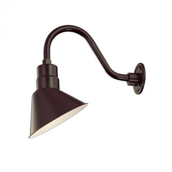 Millennium Lighting R Series 1-Light Angle Shade in Architectural Bronze