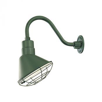 Millennium Lighting R Series 1-Light Angle Shade in Satin Green