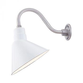 Millennium Lighting R Series 1-Light Angle Shade in White Porcelain