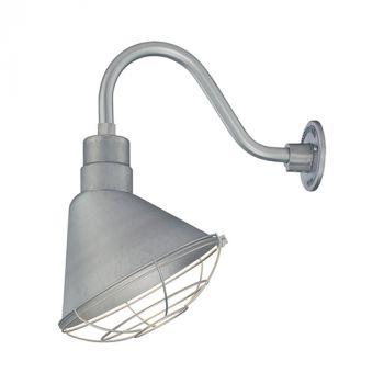 Millennium Lighting R Series 1-Light Angle Shade in Galvanized