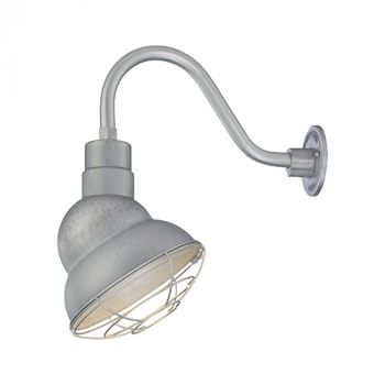 Millennium Lighting R Series 1-Light Emblem Shade in Galvanized