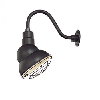 Millennium Lighting R Series 1-Light Emblem Shade in Satin Black