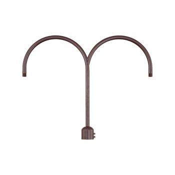 Millennium Lighting R Series Exterior 2-Light Post Adapter in Architectural Bronze