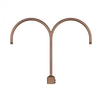 Millennium Lighting R Series Exterior 2-Light Post Adapter in Copper