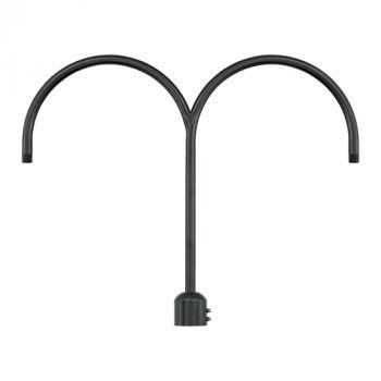 Millennium Lighting R Series Exterior 2-Light Post Adapter in Satin Black