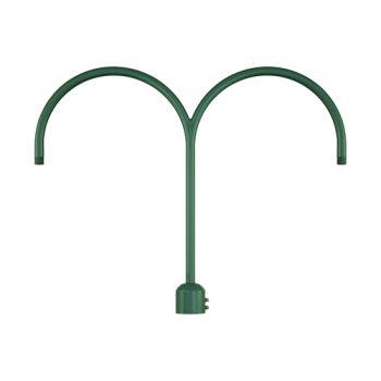 Millennium Lighting R Series Exterior 2-Light Post Adapter in Satin Green
