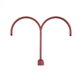 Millennium Lighting R Series Exterior 2-Light Post Adapter in Satin Red